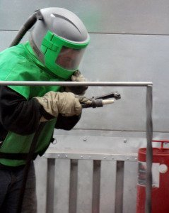 powder coating equipment - blast rooms