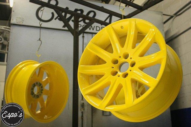 Yellow Powder Coated Rims