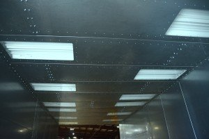 Powder Spray Booth With Lights