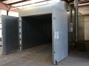 Batch Powder Curing Oven - Doors Open
