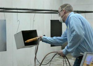 Powder Coating Application Using Powder Spray Gun