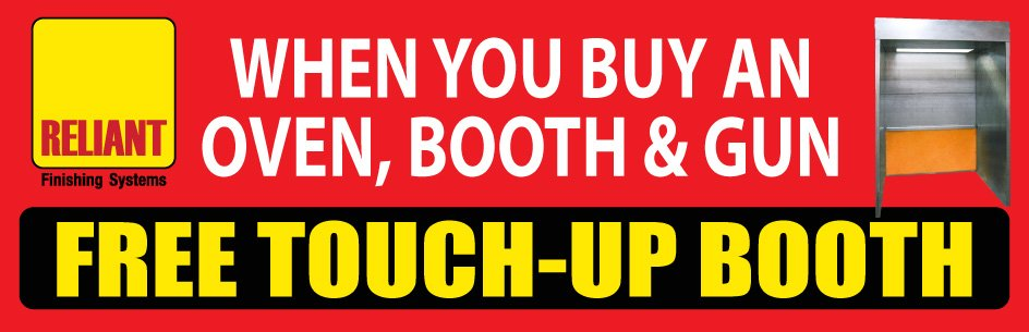 Free Touch up Booth Offer - April - Reliant finishing systems